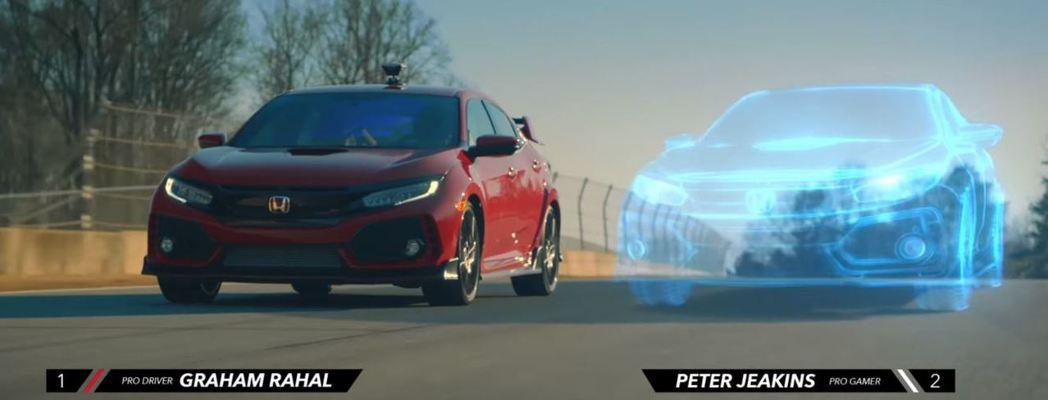 現實vs.虛擬 Civic TypeR。 摘自HONDA