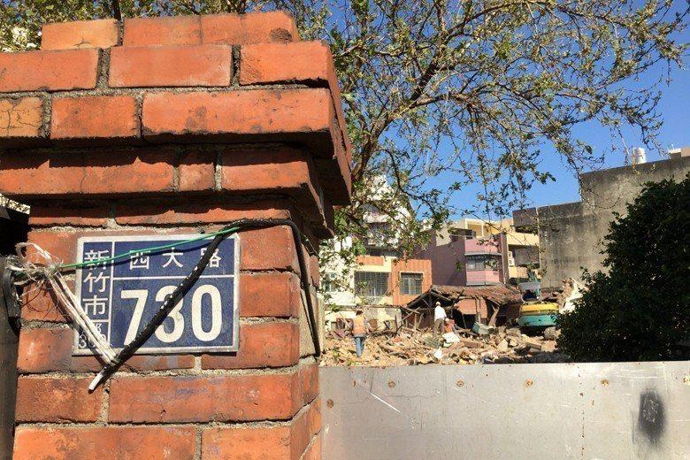 新竹太原第在今年除夕時遭屋主強拆。 圖/聯合報系資料照