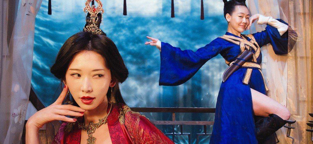 小S與林志玲「吃吃的愛」,電視首播收視不敵男神影片。圖/摘自衛視電影台