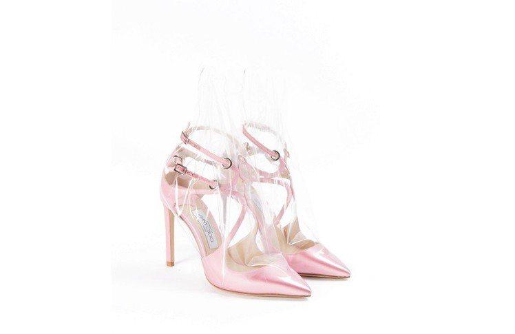 Off-White與Jimmy Choo聯名系列高跟鞋,約42,000元。圖/O...