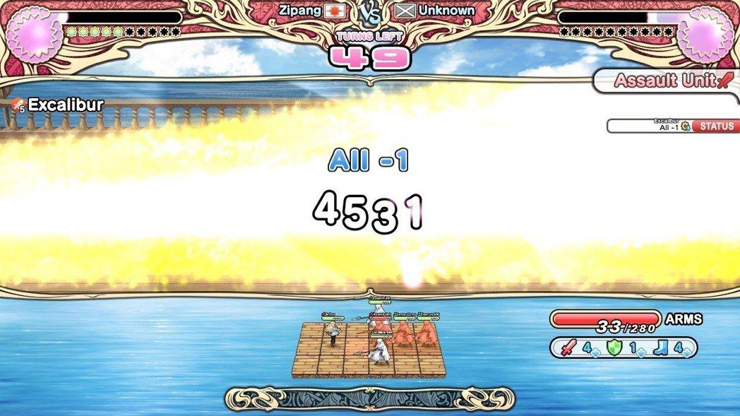 亞瑟王高歌一曲 Excalibur ,體內就能發射出強烈光束一舉殲滅對手!