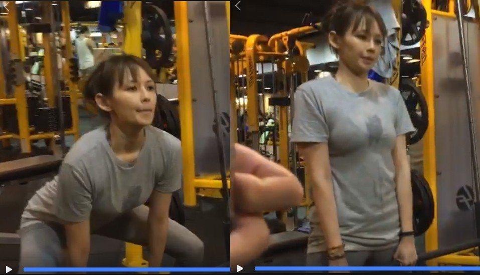 袁艾菲平時熱愛健身,22日她在臉書分享在健身房的影片,胸前濕成一片讓她羞喊想放草...
