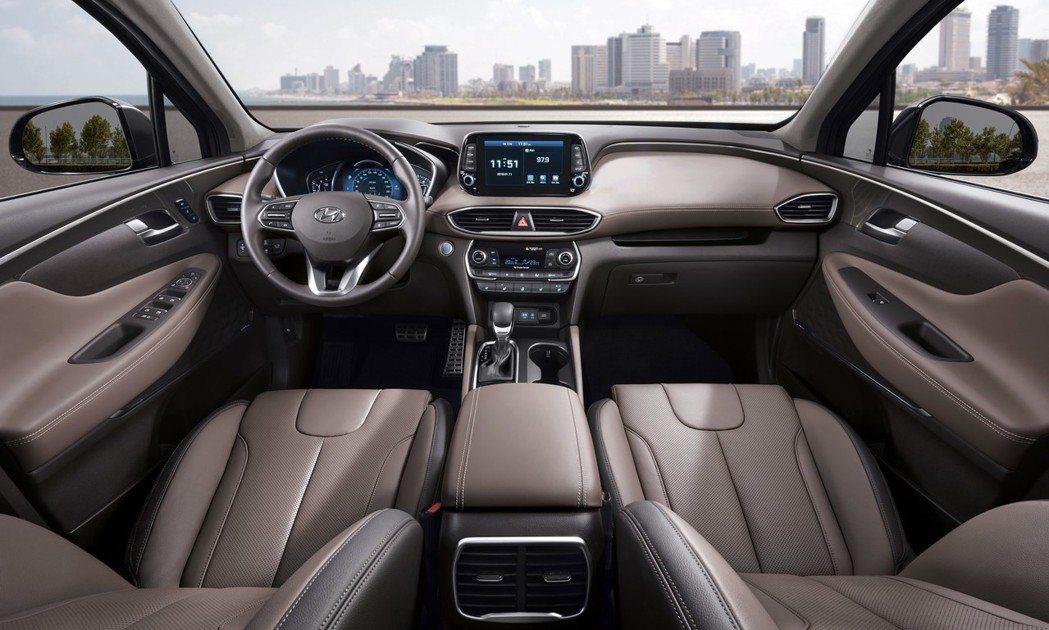 圖為全新Santa Fe 車室。 摘自Hyundai