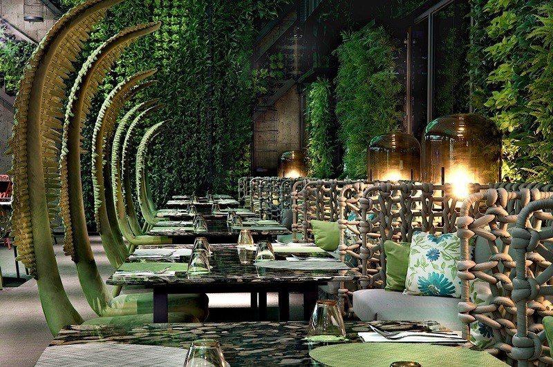 台北首間以叢林自然為視覺設計的餐廳。