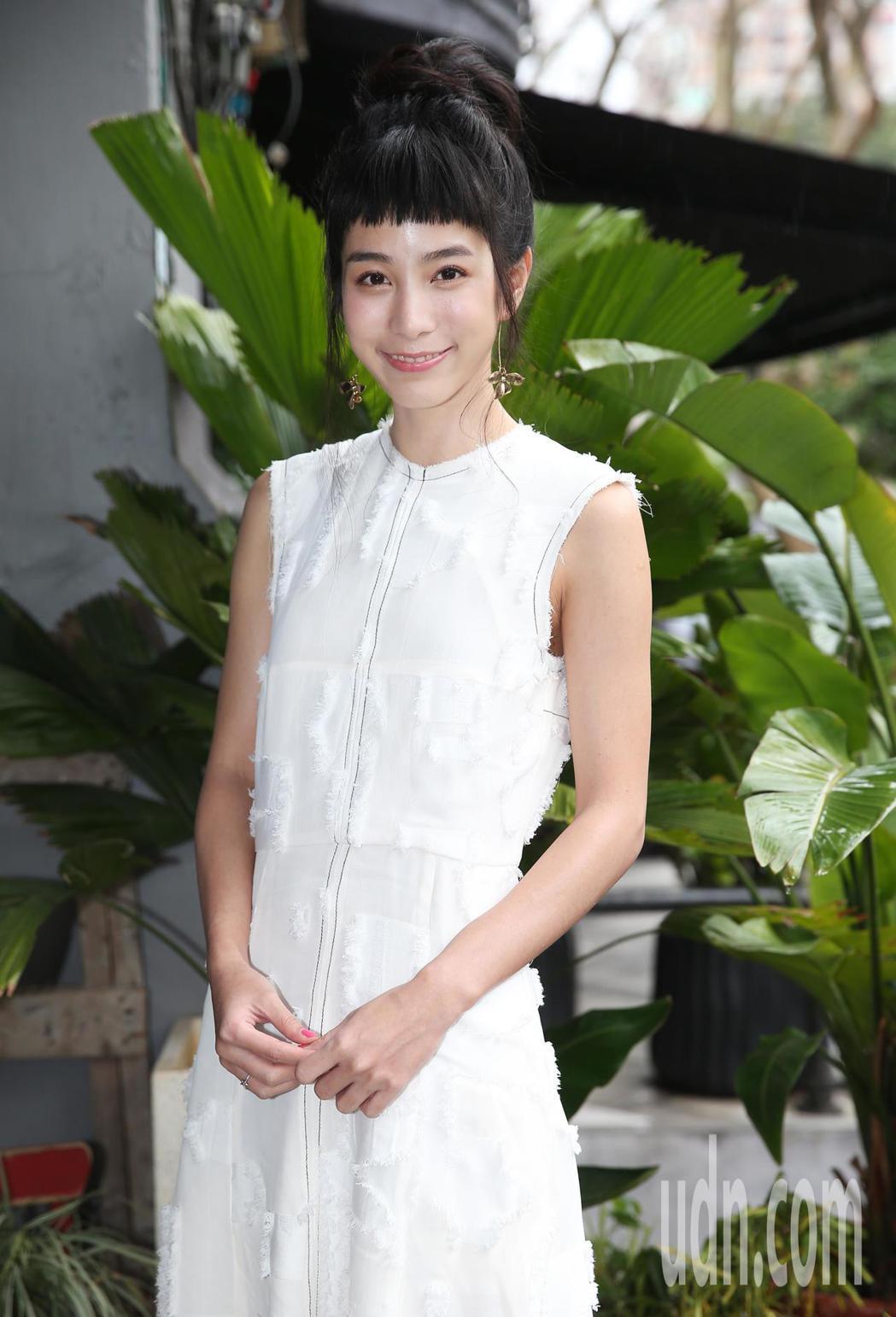 温貞菱下午出席公視新戲《奇蹟的女兒》媒體茶敘。記者徐兆玄/攝影