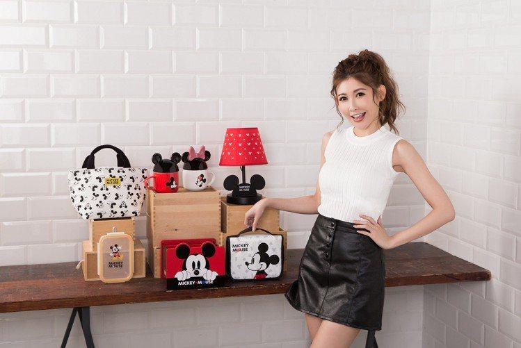 康是美米奇米妮時尚潮流系列推出8款時髦經典居家用品,讓愷樂直呼「想要」。圖/康是...