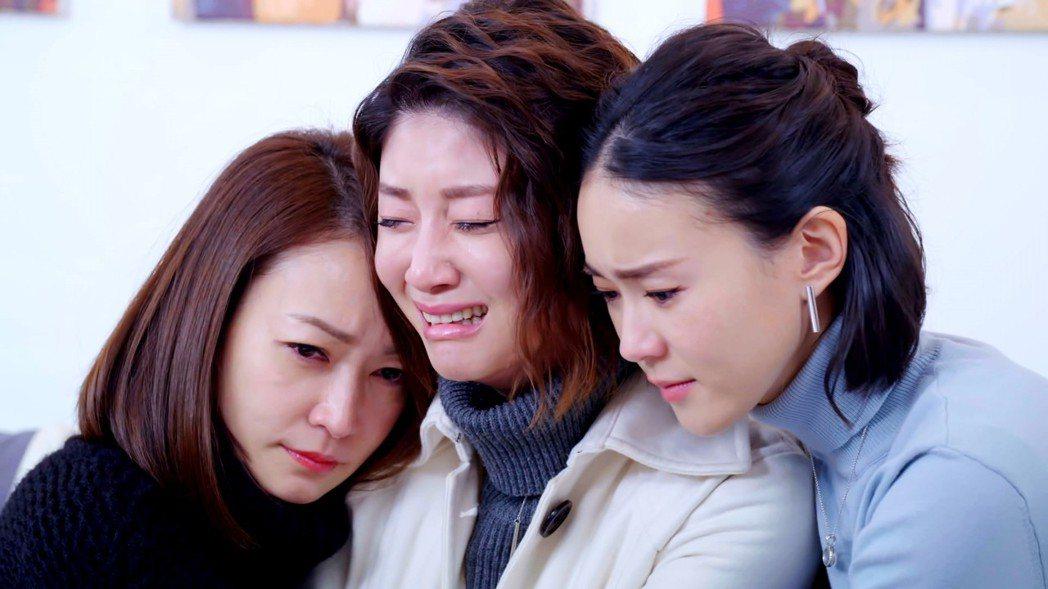金鐘影后朱芷瑩(中)在「姊的時代」中演技大考驗。  圖/三立提供