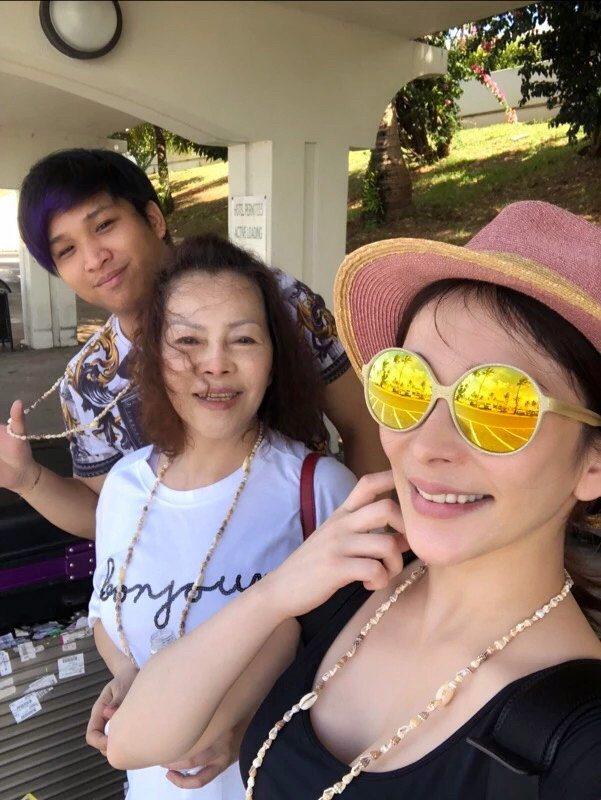 溫嵐趁著過年的假期帶著家人到關島旅遊。圖/嵐圖娛樂提供