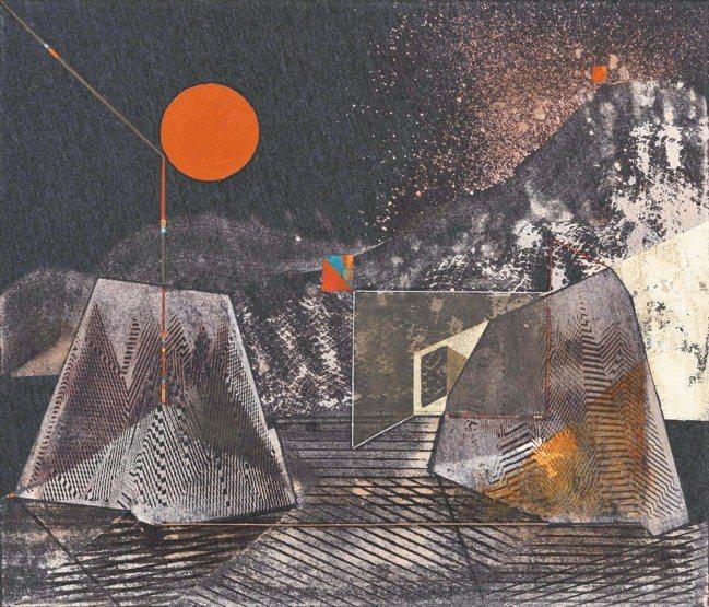 陳硯平的迷黯山林之五於Art Central展出。圖/香港巴塞爾藝術展、尊彩藝術...