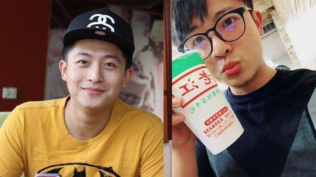 台籍越星呂晉宇受傷前照片(圖左)與他在臉書分享的近照(圖右)。圖/中央社河內攝、