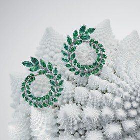 蕭邦環保祖母綠、伯爵高級珠寶表 繽紛華麗展春意