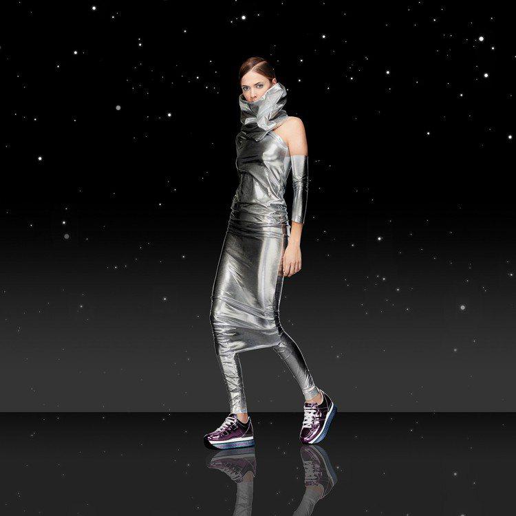 HOGAN在米蘭以展示方式發表未來感十足的銀河之旅。圖/HOGAN提供