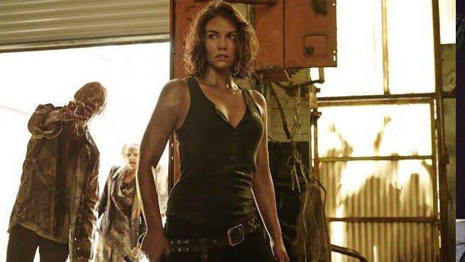 蘿倫柯罕飾演的瑪姬是「陰屍路」女主角之一。圖/摘自AMC