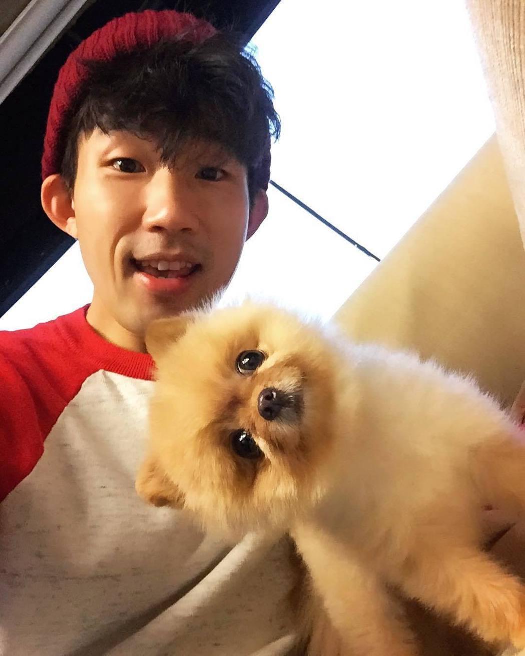 梅賢治和女模姚密的愛犬「幸醬」。圖/伊林提供