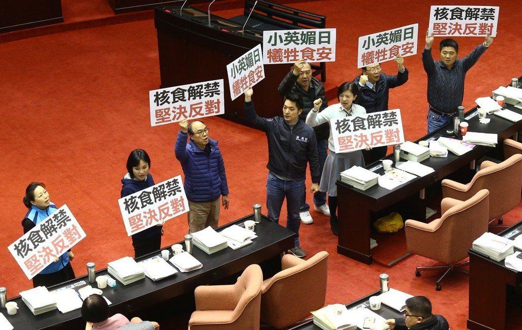 國民黨將發動反核食公投。 圖/聯合報系資料照