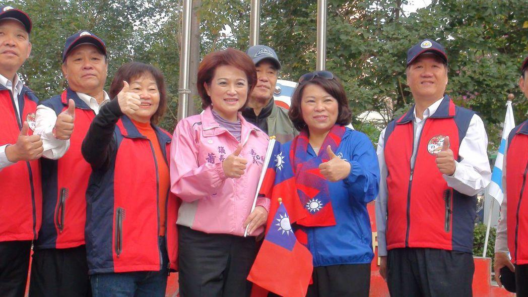 蕭淑麗、黃敏惠今年元旦還同台互動,如今從同志變敵人。 圖/聯合報系資料照片