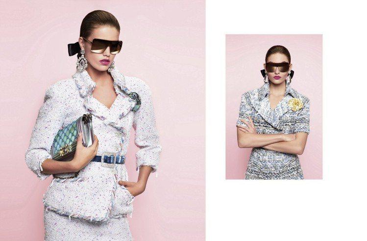 香奈兒2018春夏形象廣告也運用了本季設計主題裡重點色調水色系和粉彩色作為背景。...