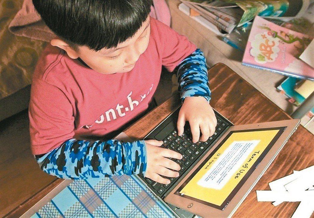 孩童容易網路成癮。 圖/聯合報系資料照片