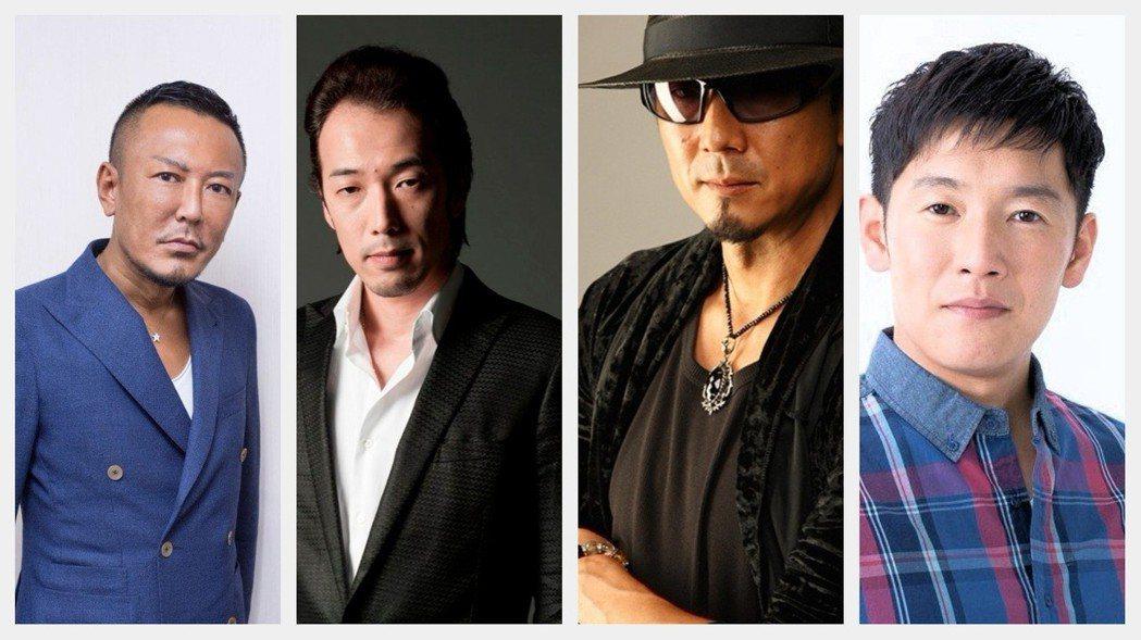 圖左至右依序:名越稔洋、佐藤大輔、黑田崇矢、中谷一博