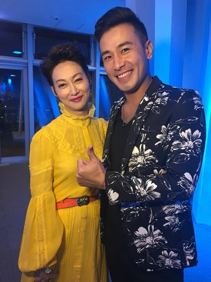 傅子純曾演出「血觀音」,去年金馬獎才鼓起勇氣向影后惠英紅提出合照。圖/摘自臉書