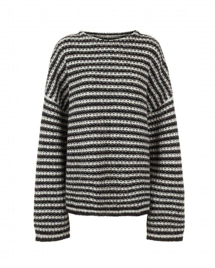 AllSaints Abigail黑白條紋針織衫,約9,700元。圖/AllSa...