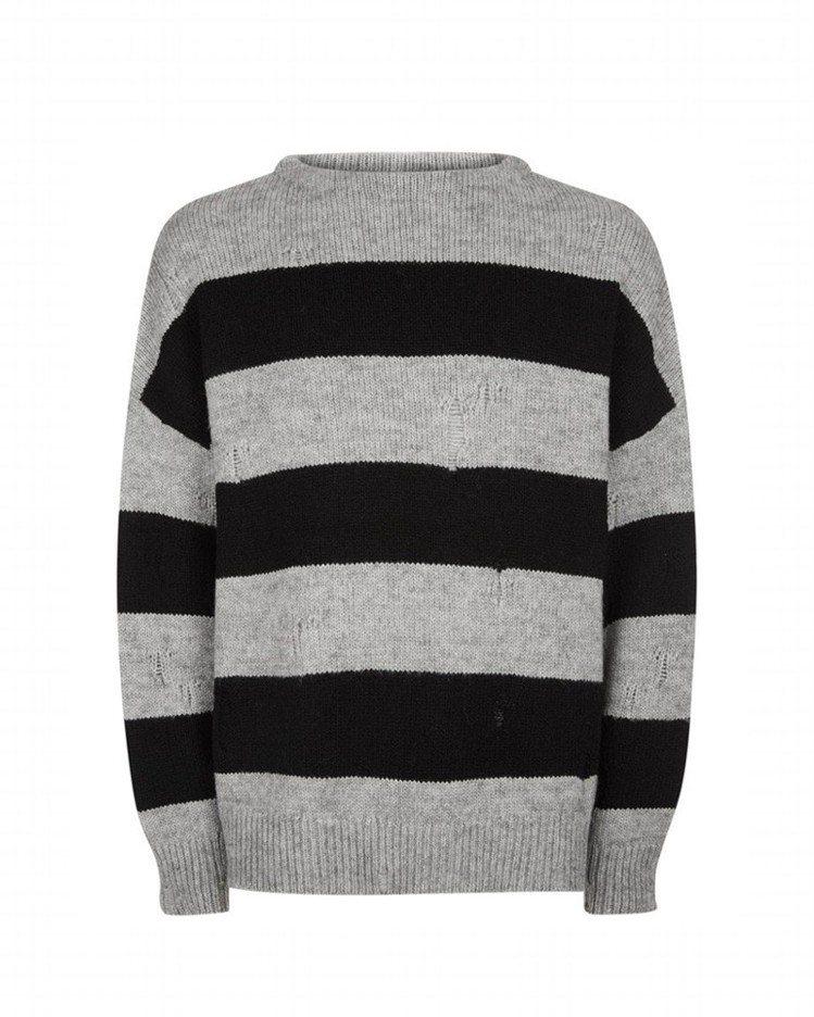 AllSaints Demo條紋針織上衣 ,約6,100元。圖/AllSaint...