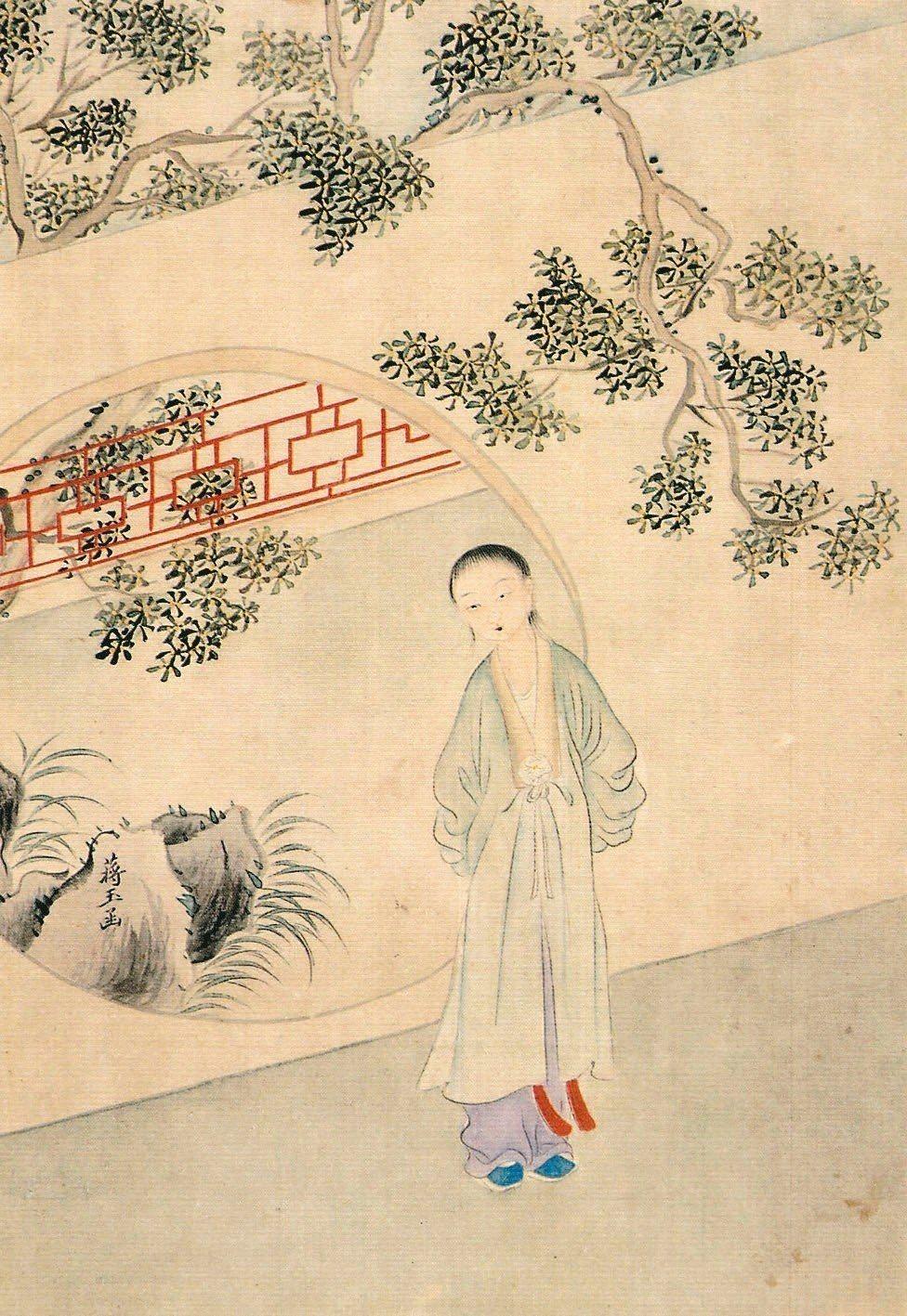 蔣玉涵。(圖/清‧改琦繪)