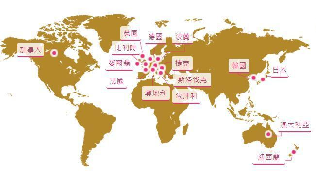 開放打工度假的國家 youthtaiwan.net