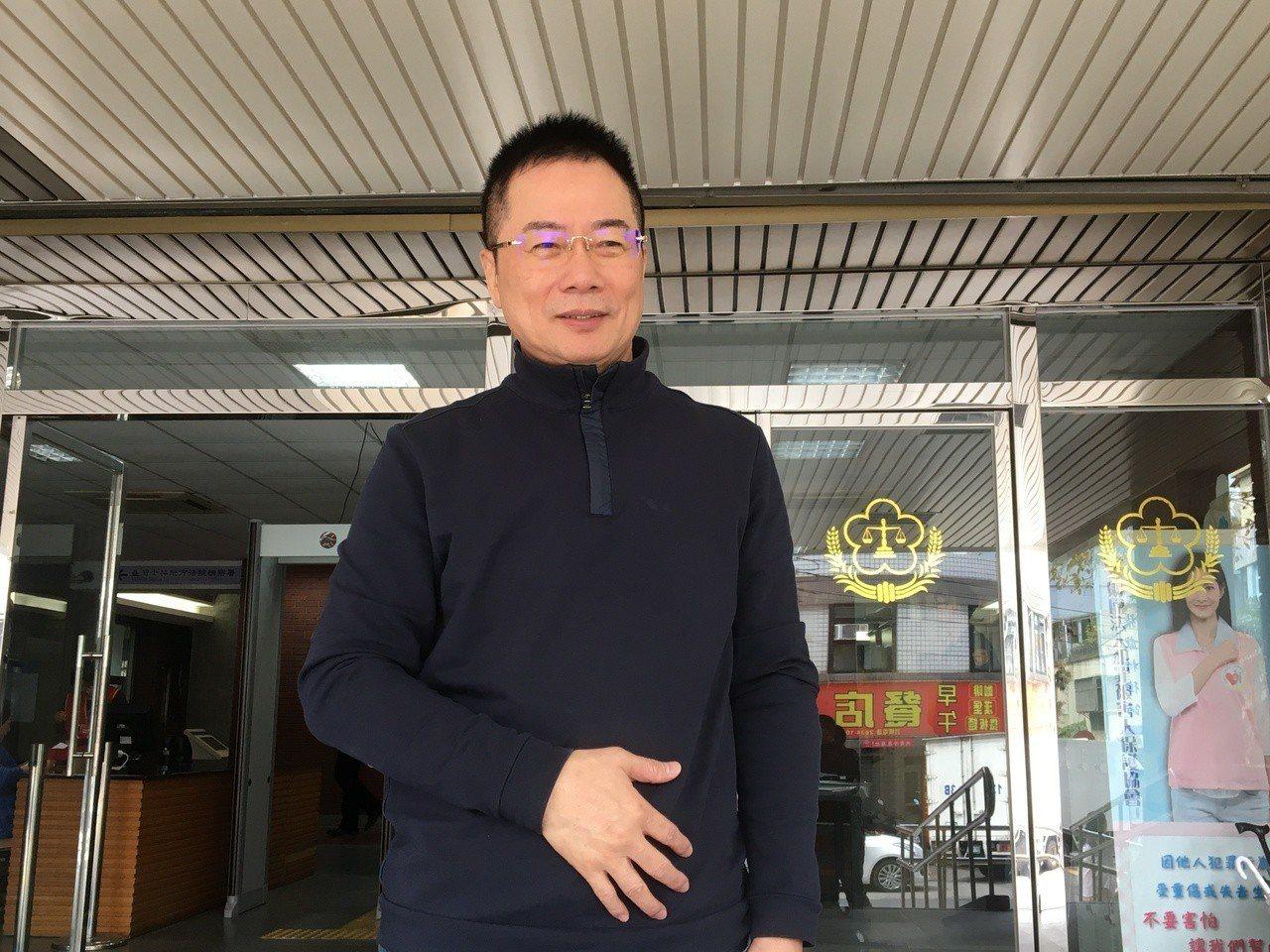 蔡正元今出庭。記者林孟潔/攝影