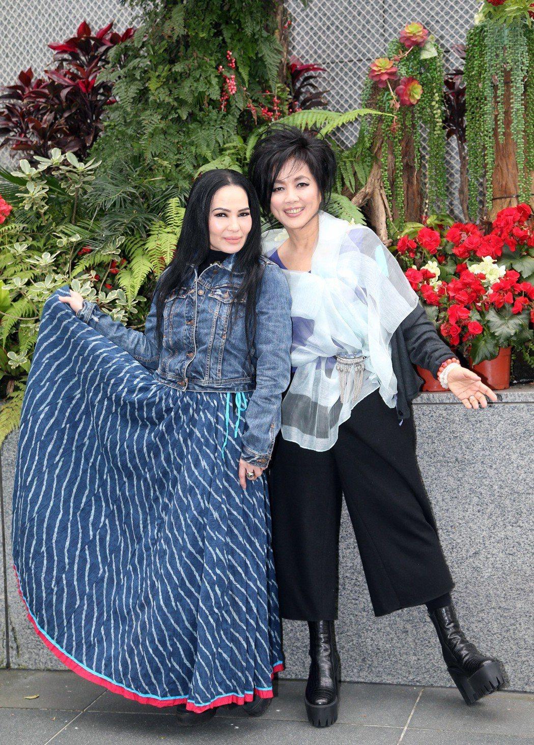 齊豫(右)與潘越雲將辦「回聲」演唱會。記者陳瑞源/攝影