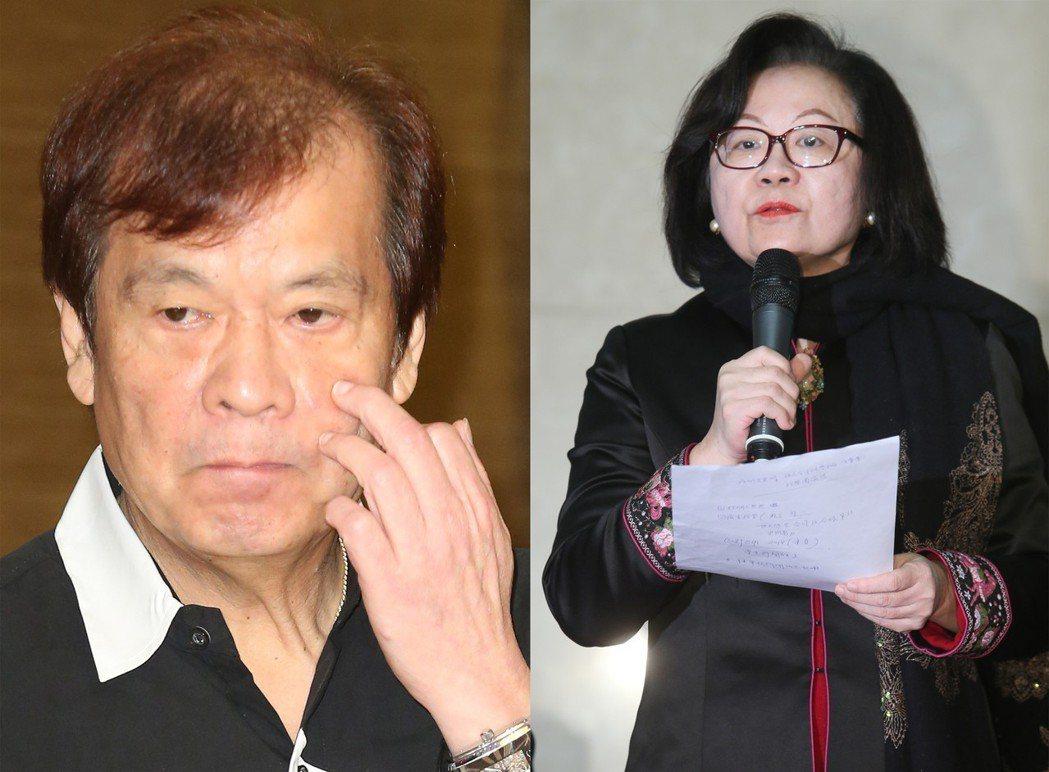 陳郁秀(右)指郭建宏(左)拒絕出席是逃避董事會監督。圖/聯合報系資料照