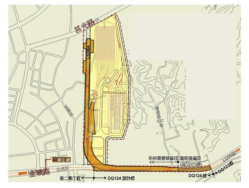 台北捷運萬大線金城機廠預定地位於新北金城路三段以北一帶,將在下個月中旬舉辦動工典...