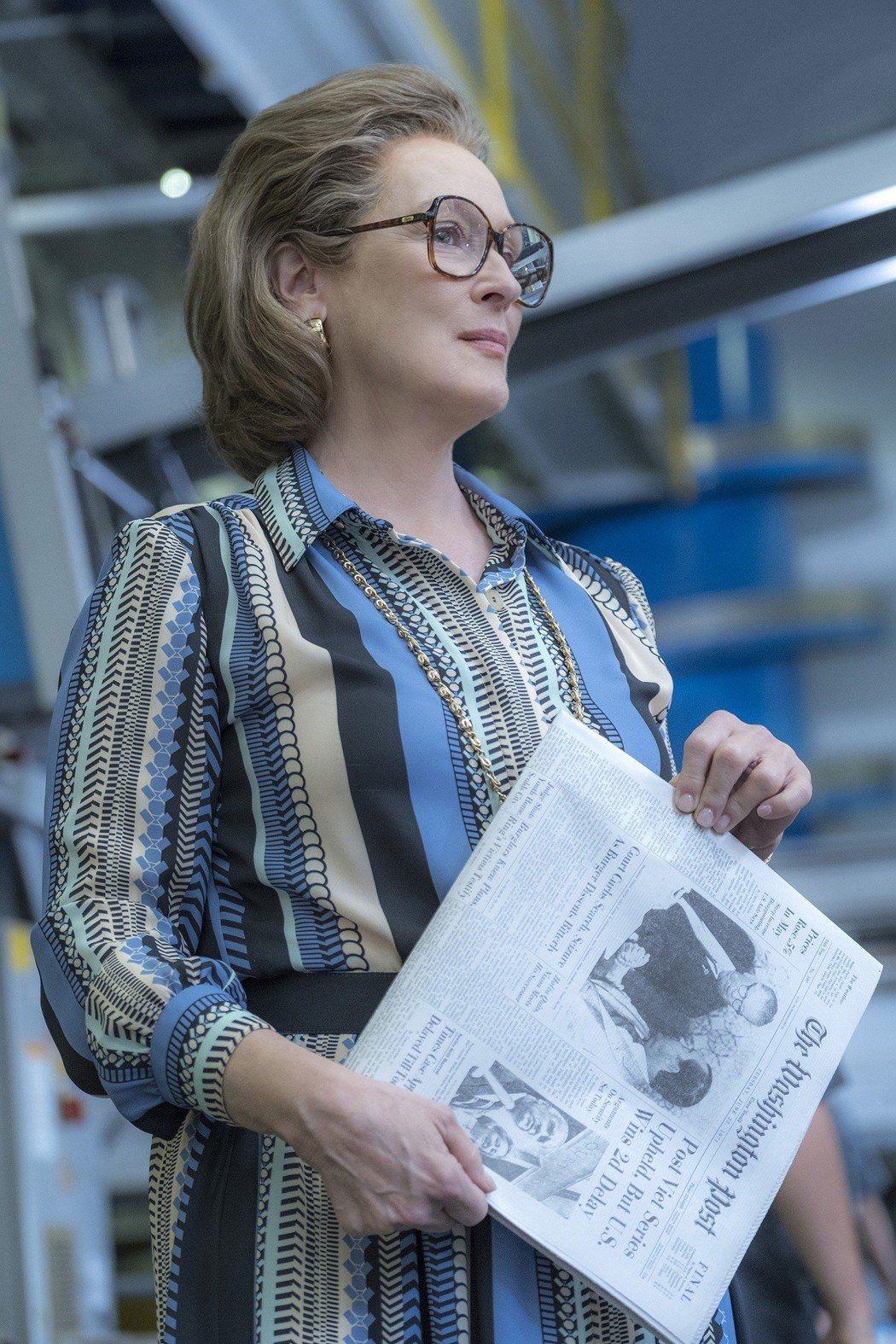 梅莉史翠普以「郵報:密戰」挑戰第4座奧斯卡金像獎。圖/UIP提供