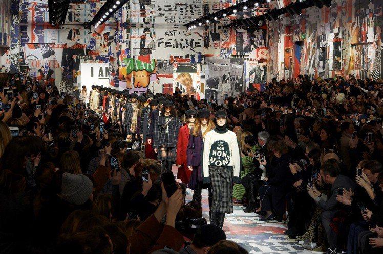 Dior在羅丹美術館發表2018秋冬時裝。圖/Dior提供