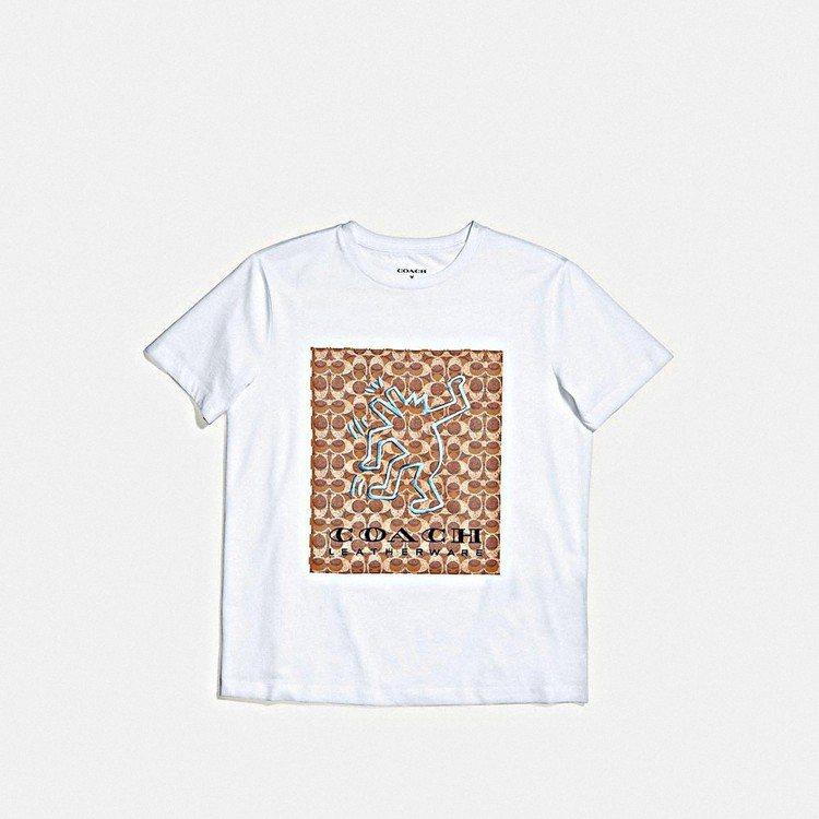 COACH X Keith Haring短袖白色T恤,售價5,500元。圖/CO...