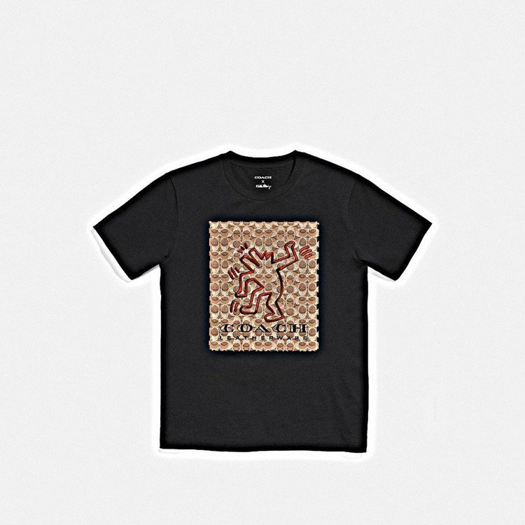 COACH X Keith Haring短袖黑色T恤,售價3,300元。圖/CO...