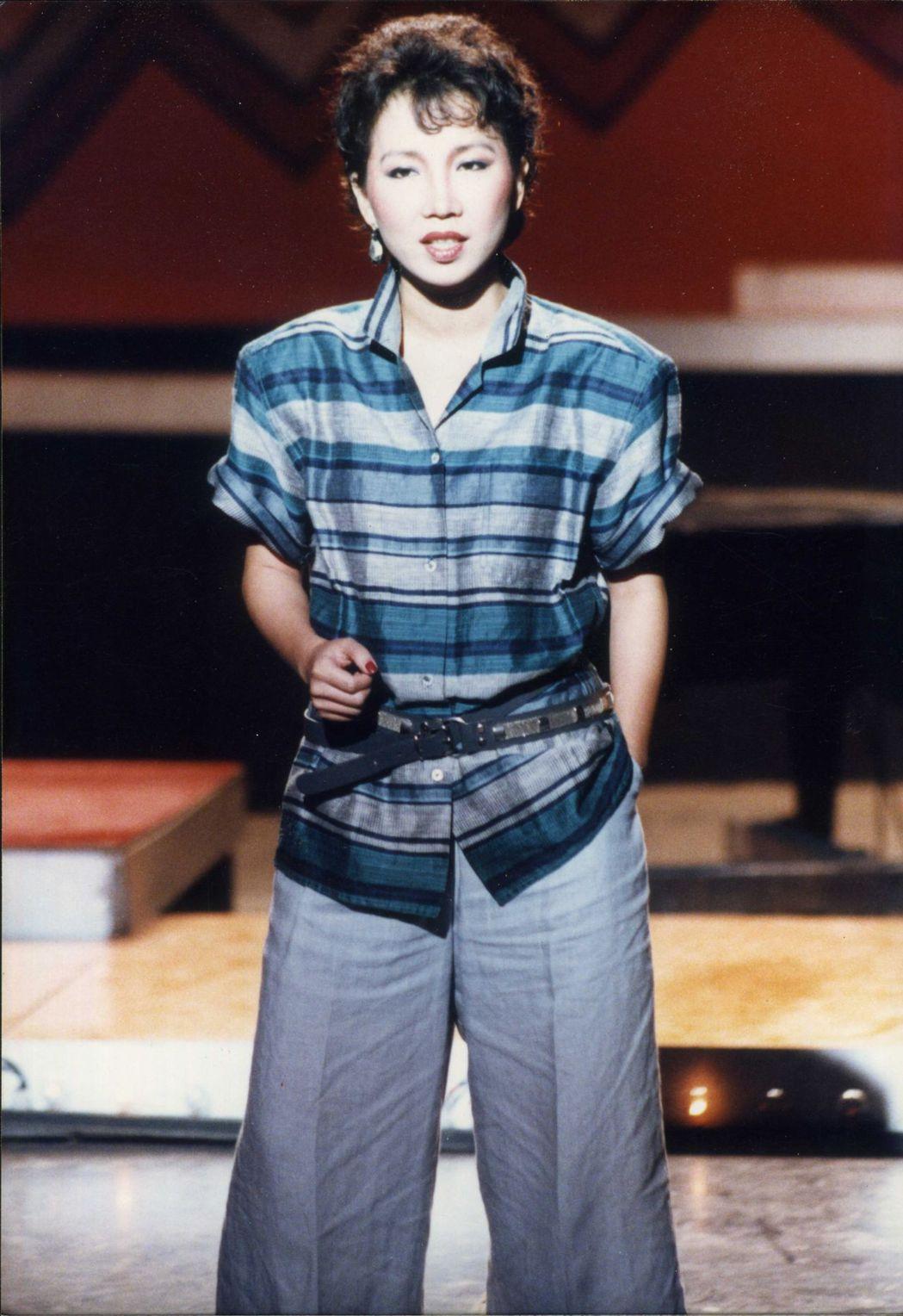 30年前蘇芮唱歌的樣子。 圖/聯合報系資料照