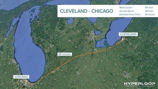 真空管超高速運輸科技公司的超級列車,時速可達760哩。(HTT官網)
