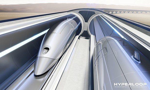 HTT提出從芝加哥到克利夫蘭市的超級列車,只要28分鐘就能抵達目的地。(HTT官...