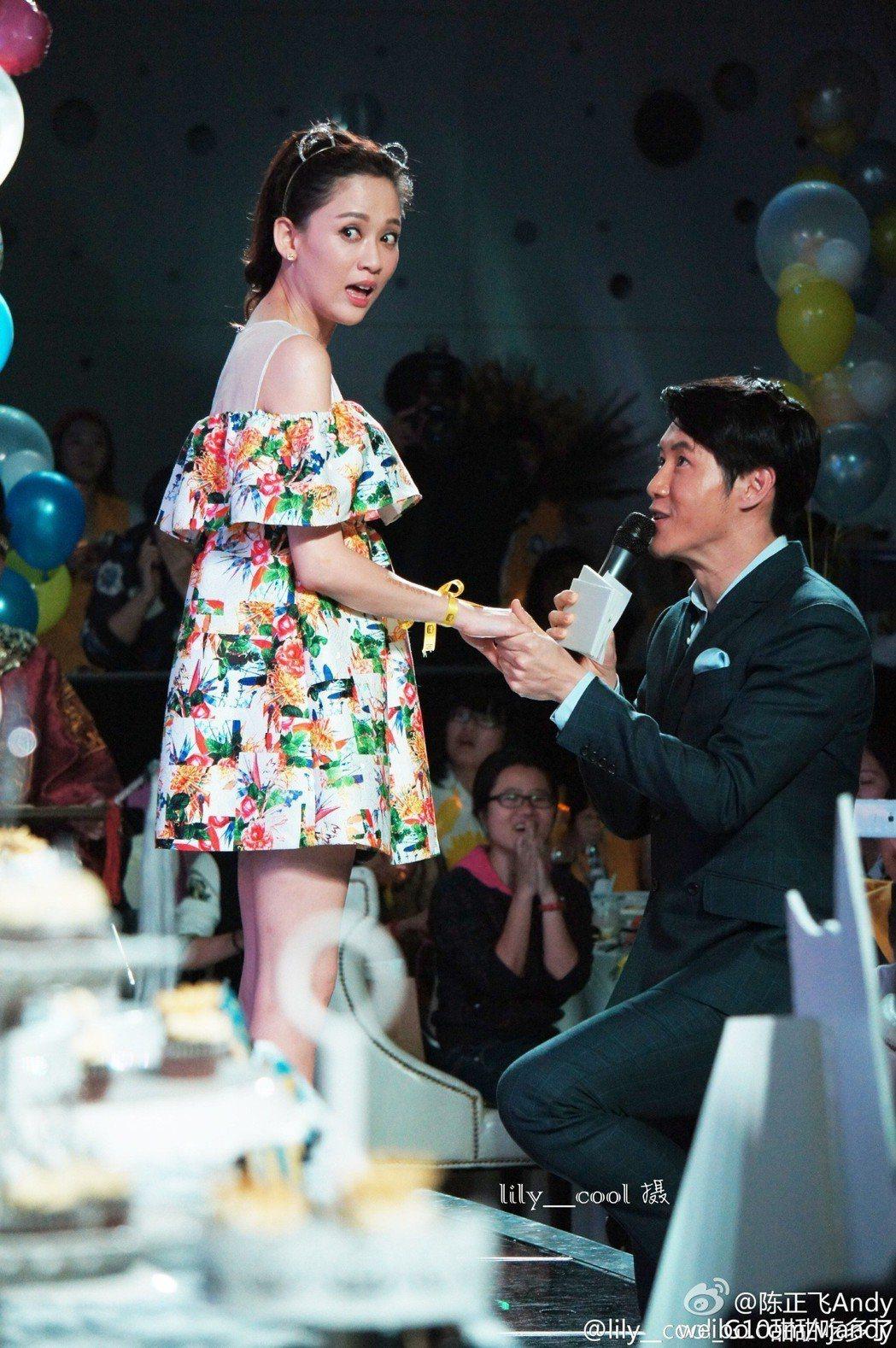 陳正飛與陳喬恩曾有過定情婚約。 圖/擷自微博
