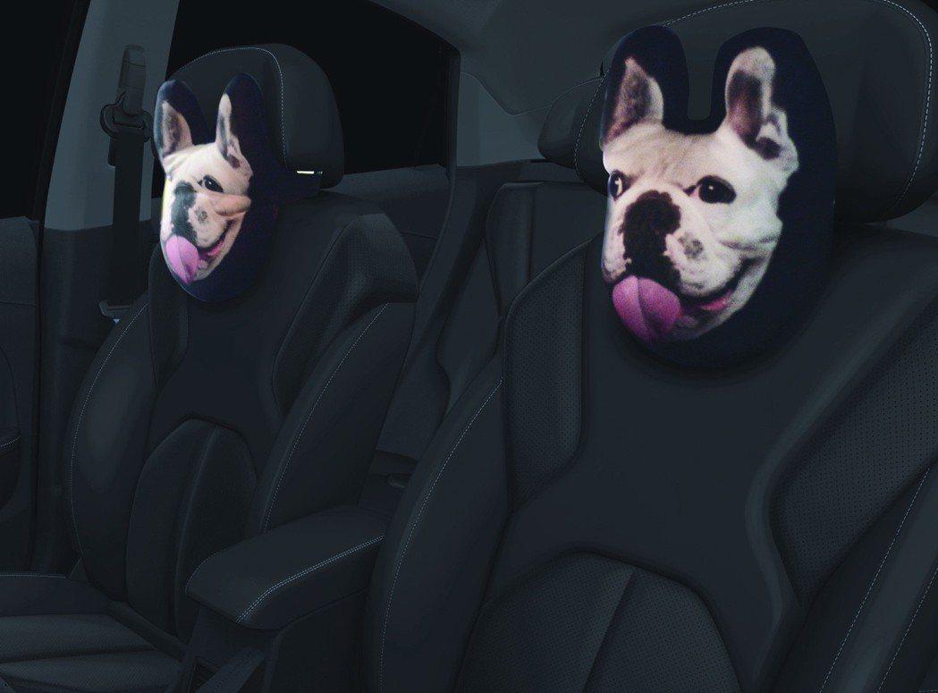 U5客製化前座頸枕。 圖/LUXGEN提供