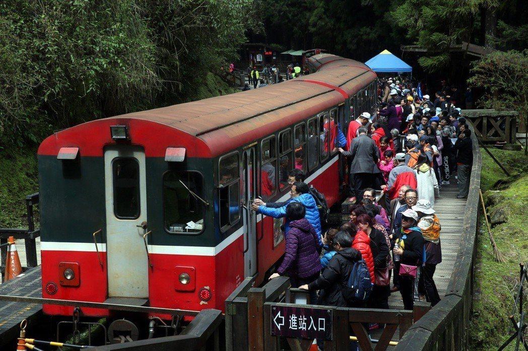 阿里山森林鐵路為世界遺產潛力點。 圖/聯合報系資料照