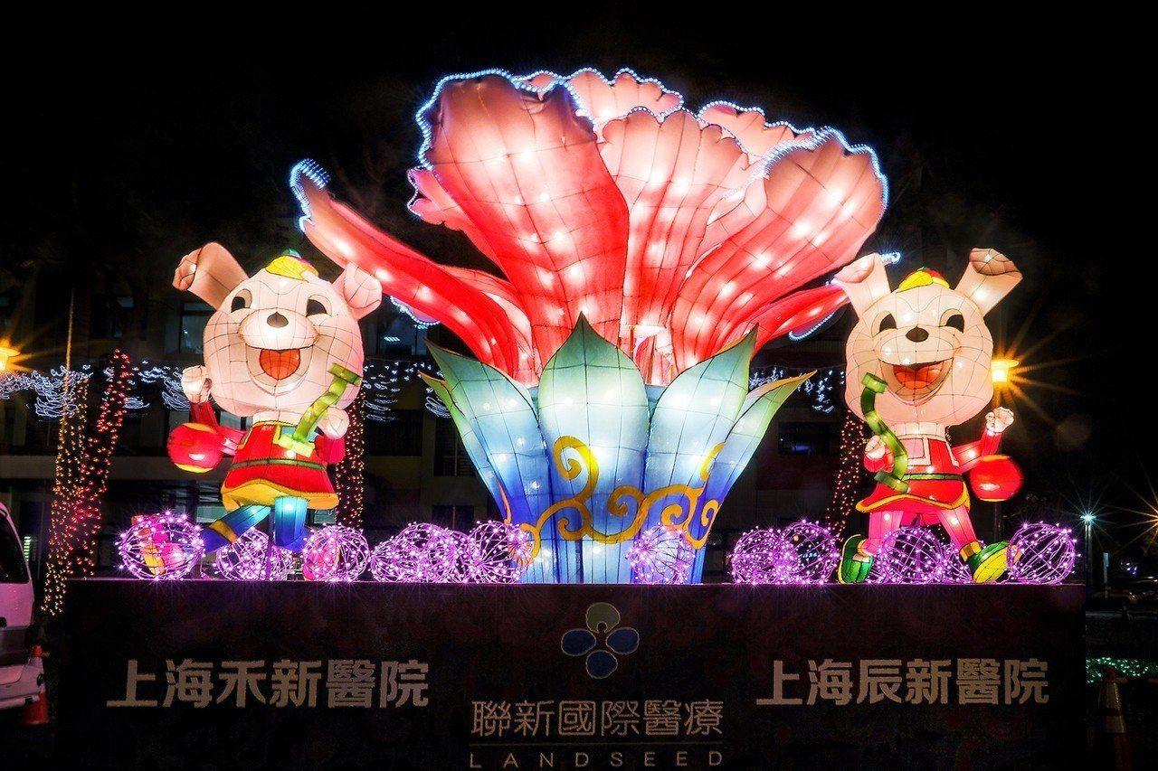 桃園燈會登場,上海台商捐贈花燈參展。圖/市府提供