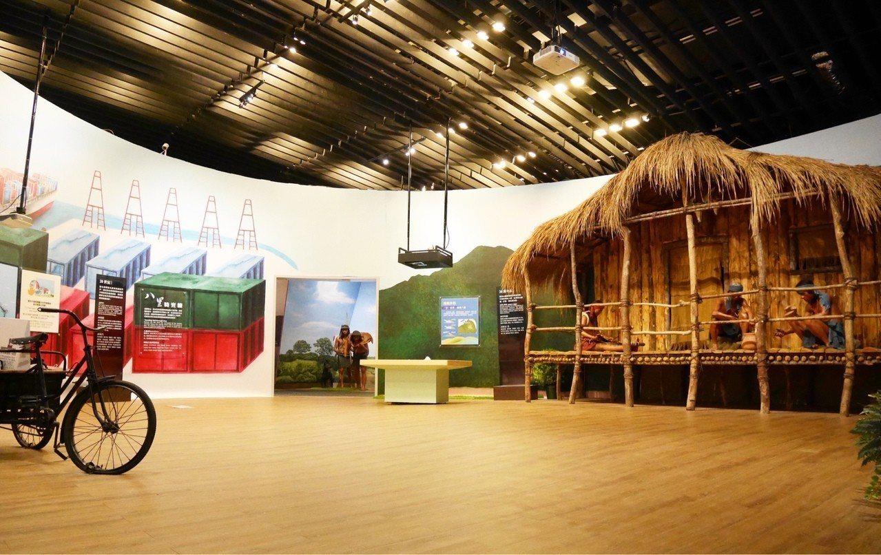 106年推出 結合6種展示技術的「八里時光機」常設展。圖/十三行博物館提供