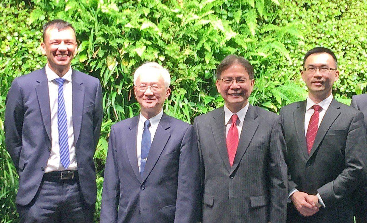 第一銀行董瑞斌董事長(左二)、李嘉祥副總經理(右二)拜會澳洲金融監理局SID執行...