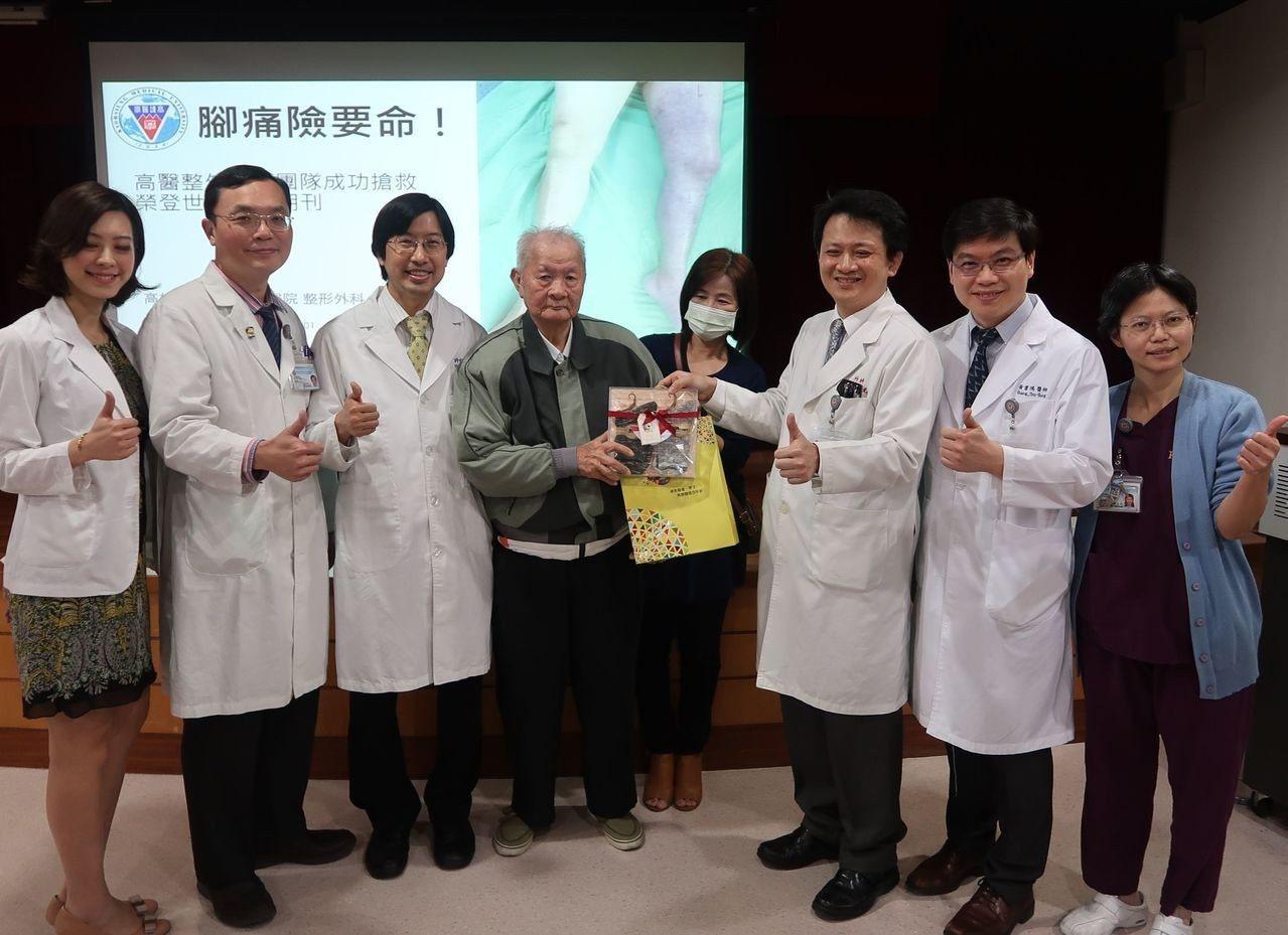 李老先生感謝高醫團隊救治得宜。記者徐如宜/攝影