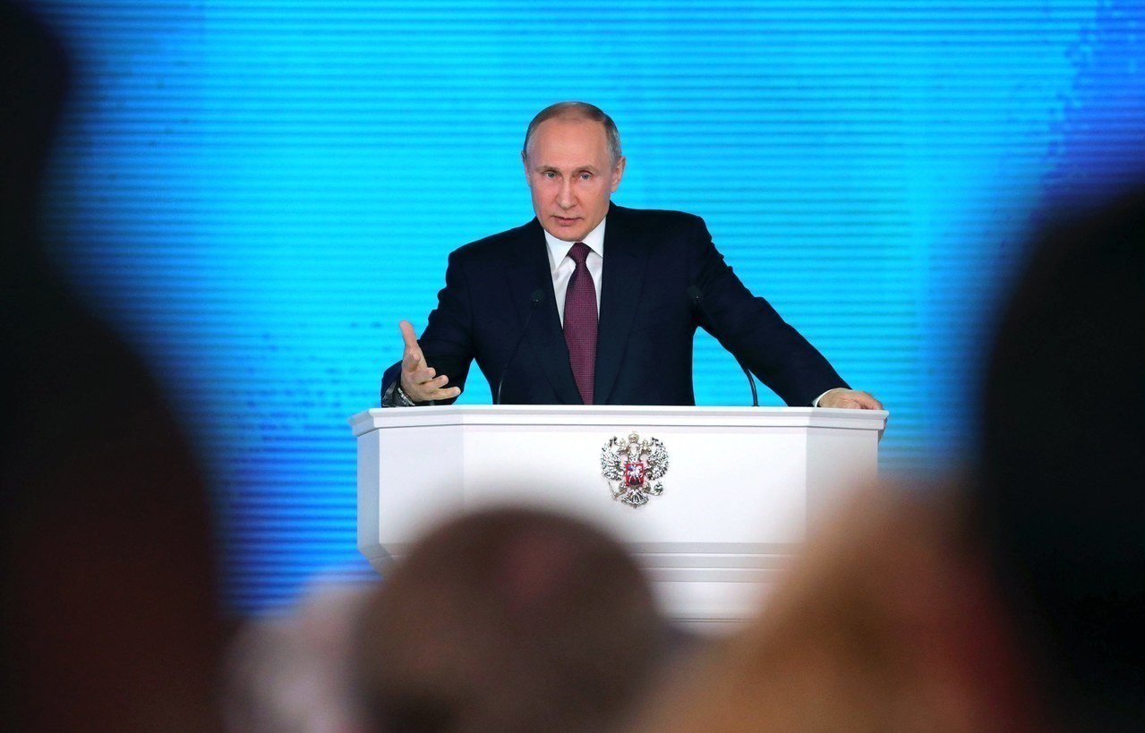 俄國總統普亭1日對國會表示,俄國研發新核武的成效斐然。歐新社