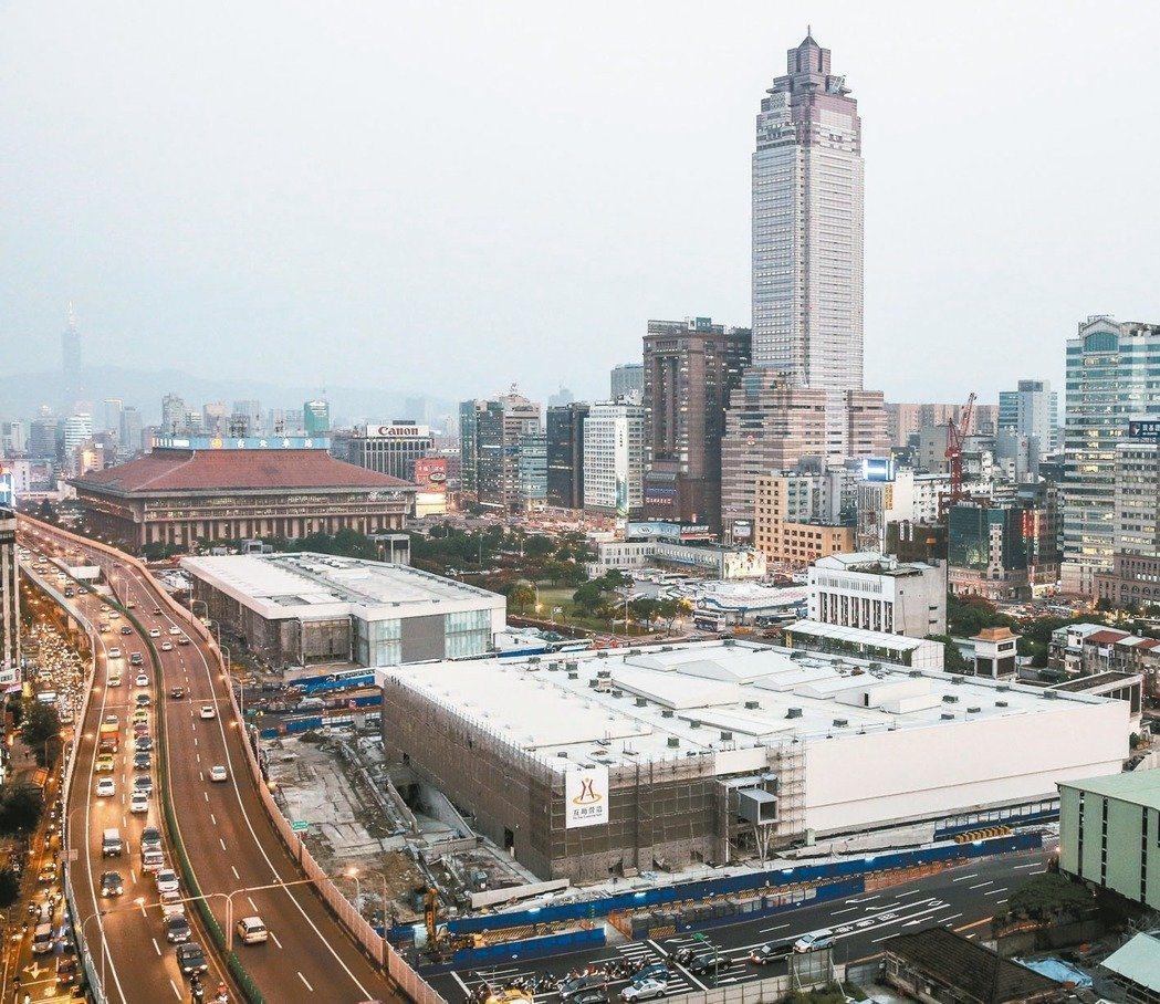 台北「雙子星」土地開發案預定地。圖/本報資料照