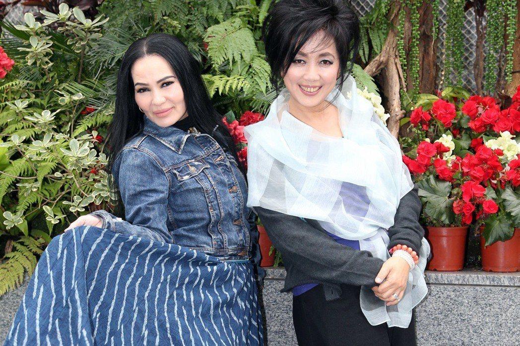 齊豫(右)與潘越雲已是資深歌手。記者陳瑞源/攝影