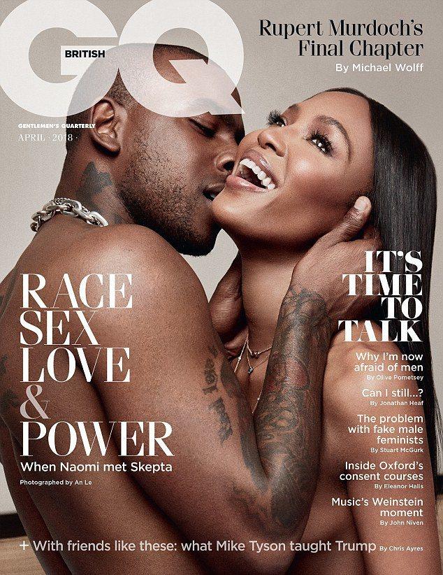 娜歐蜜坎貝兒與新男友一起拍清涼封面照,公開戀情。圖/摘自GQ